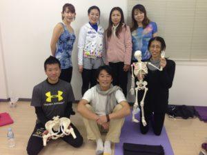 ヨガ解剖学コース卒業写真