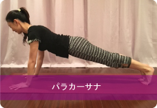 【パラカーサナ】プランクポーズ| 体幹力と二の腕を引き締めたい方におススメ!