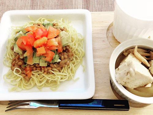 納豆冷麺ランチ