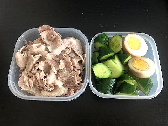 夏でもたんぱく質!食べ応え有の豚肉とキュウリランチ♪