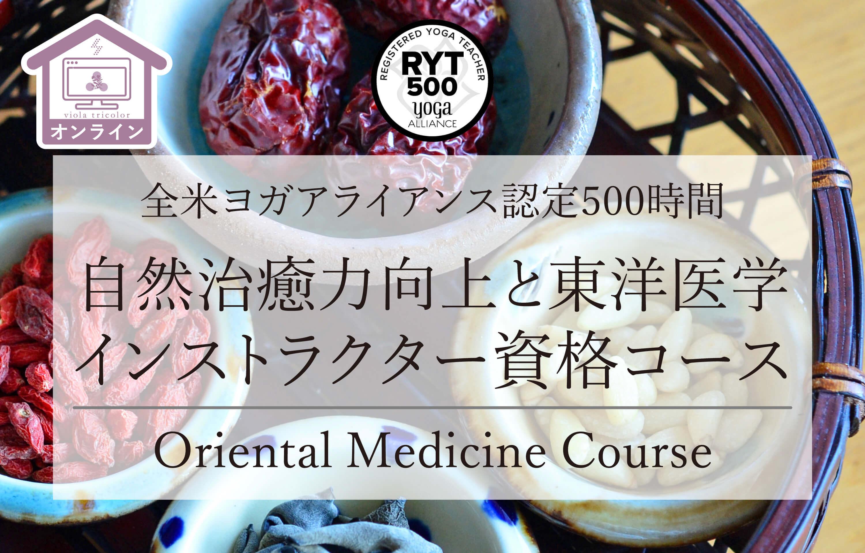 【オンライン開催】自然治癒力向上と東洋医学資格コース